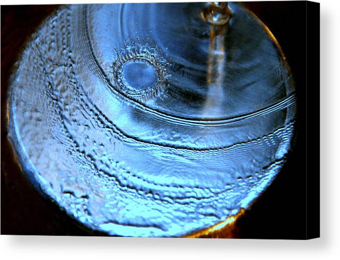 Water Photography Canvas Print featuring the photograph Splash by Kathy Peltomaa Lewis