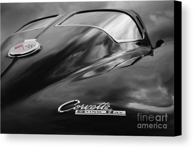 1963 Corvette Canvas Print featuring the photograph Split Window by Dennis Hedberg