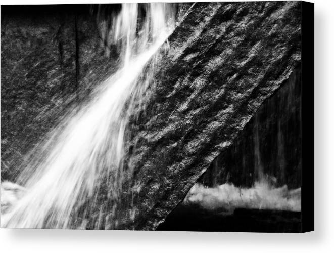 Rock Canvas Print featuring the photograph Sprays Of Water On Angled Rock by Gregory Strong