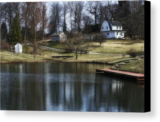 Blue Canvas Print featuring the photograph Springtime In Ohio by Tom Mc Nemar