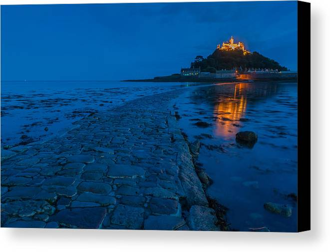 Cornwall Canvas Print featuring the photograph St Michaels Mount by David Ross