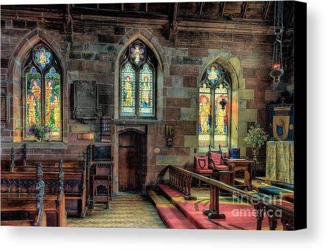 Aisle Canvas Print featuring the photograph Stained Glass by Adrian Evans