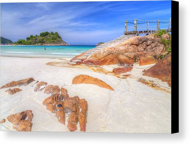 Paradise Canvas Print featuring the photograph Stairs To Paradise by Mario Legaspi