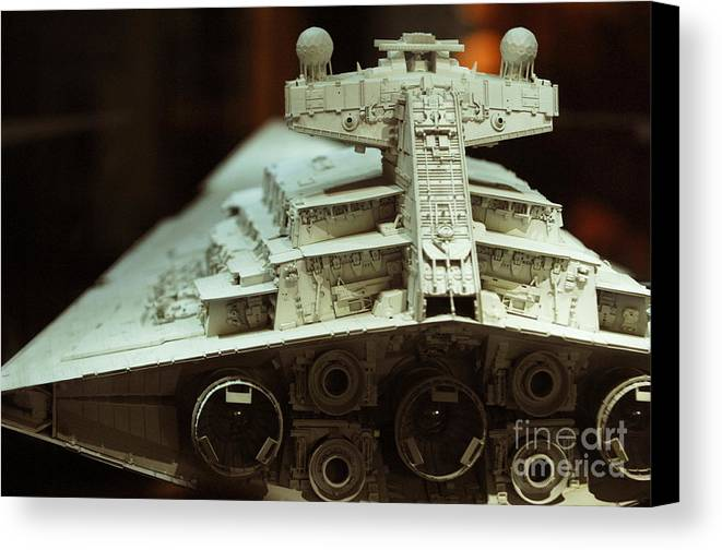 Fighter Canvas Print featuring the photograph Star Destroyer Maquette by Micah May