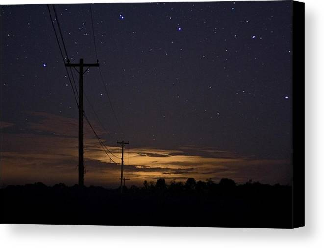Night Sky Canvas Print featuring the photograph Starlight At Night by James McDowell