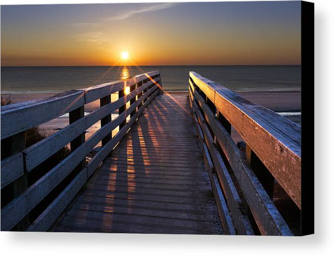 Clouds Canvas Print featuring the photograph Stars On The Boardwalk by Debra and Dave Vanderlaan