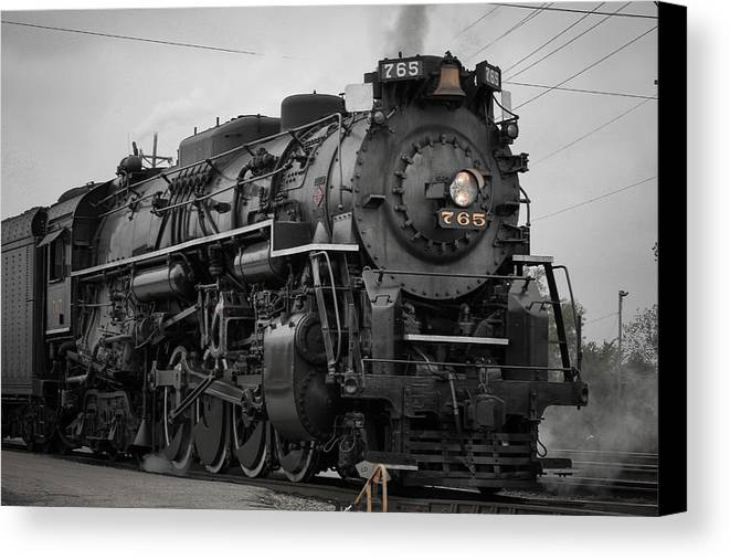 Steam Canvas Print featuring the photograph Steam Locomotive by Tracey Patterson
