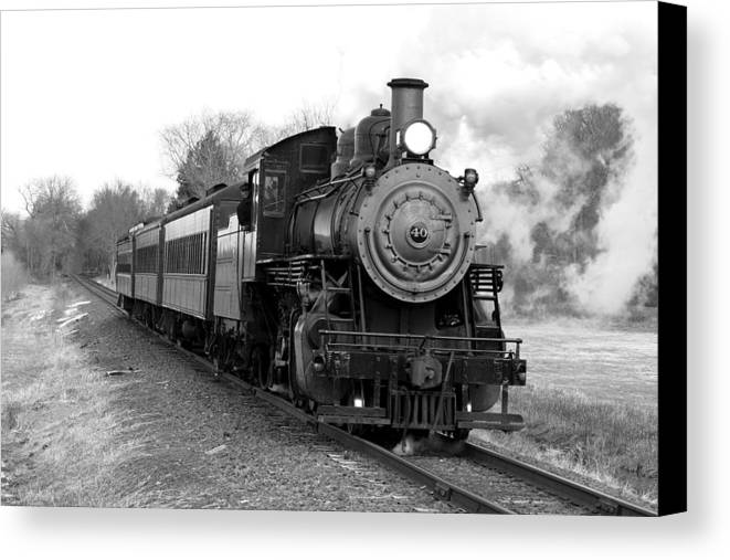 L&c Railway Canvas Print featuring the photograph Steam Train by Joseph C Hinson Photography