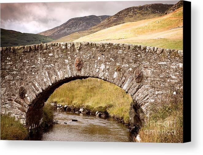 Bridge Canvas Print featuring the photograph Stone Bridge Highlands by Jane Rix