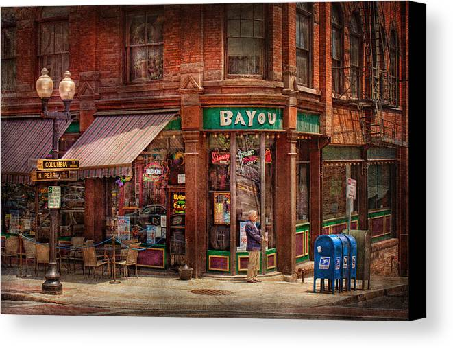 Pearl St Canvas Print featuring the photograph Store - Albany Ny - The Bayou by Mike Savad