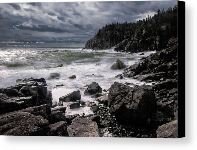 Gulliver's Hole Canvas Print featuring the photograph Storm At Gulliver's Hole by Marty Saccone