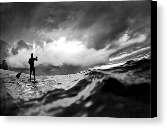 Sup Canvas Print featuring the photograph Storm Paddler by Sean Davey