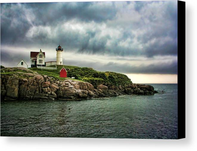 Nubble Canvas Print featuring the photograph Storm Rolling In by Heather Applegate