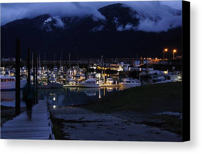 Boat Harbor Canvas Print featuring the photograph Stormy Boat Harbor by Will Dudley