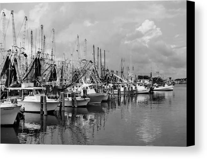Shrimp Boats Canvas Print featuring the photograph Stormy Weather by David Byron Keener