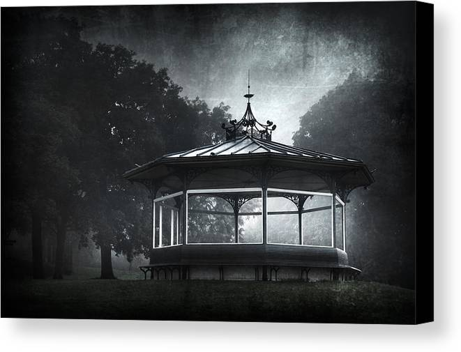 Abandoned Canvas Print featuring the photograph Storytelling Gazebo by Svetlana Sewell
