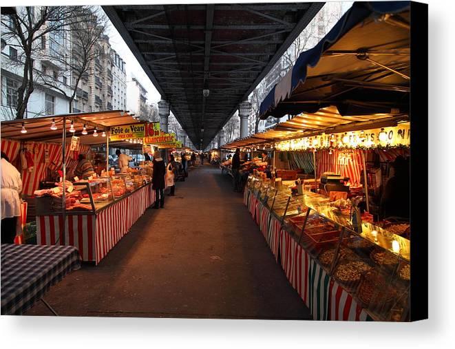 Paris Canvas Print featuring the photograph Street Scenes - Paris France - 011316 by DC Photographer