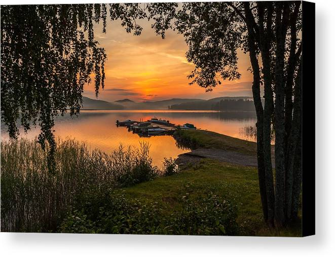Landscape In Norway Canvas Print featuring the photograph Summer Breeze by Rose-Maries Pictures