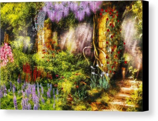 Savad Canvas Print featuring the digital art Summer - I Found The Lost Temple by Mike Savad