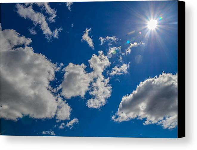 Sunny Canvas Print featuring the photograph Summer Sun With Clouds by Kevin Jarrett