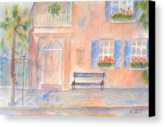 Charleston; Low Country; Palmetto Tree Canvas Print featuring the painting Sunday Morning In Charleston by Ben Kiger
