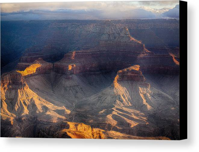 Grand Canyon Canvas Print featuring the photograph Sunrise Over The Canyon by Lisa Spencer