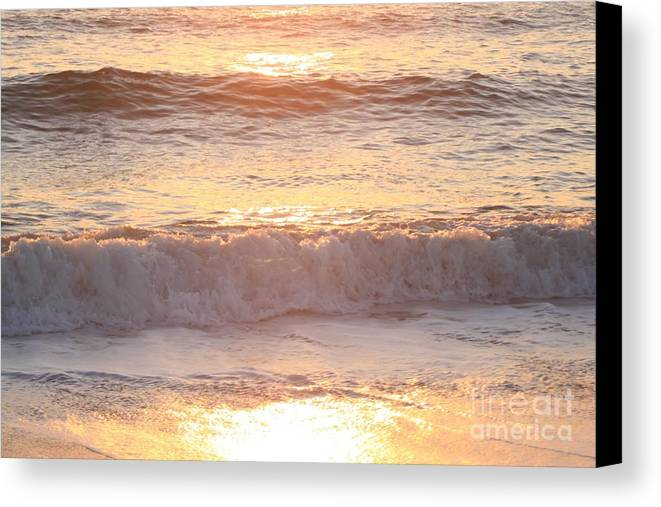 Waves Canvas Print featuring the photograph Sunrise Waves by Nadine Rippelmeyer