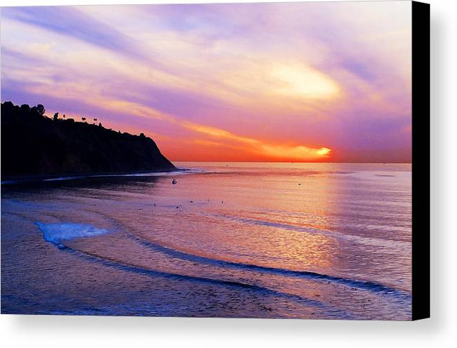 Sunset At Pv Cove Canvas Print featuring the photograph Sunset At Pv Cove by Ron Regalado