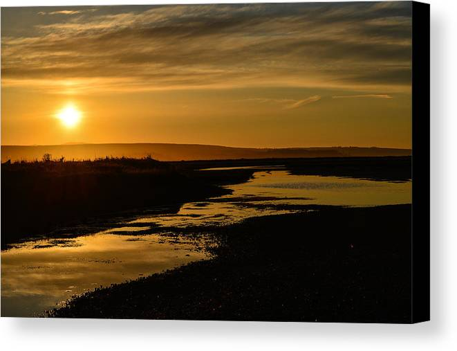 Beach Canvas Print featuring the photograph Sunset At Twin Spits by Ronda Broatch