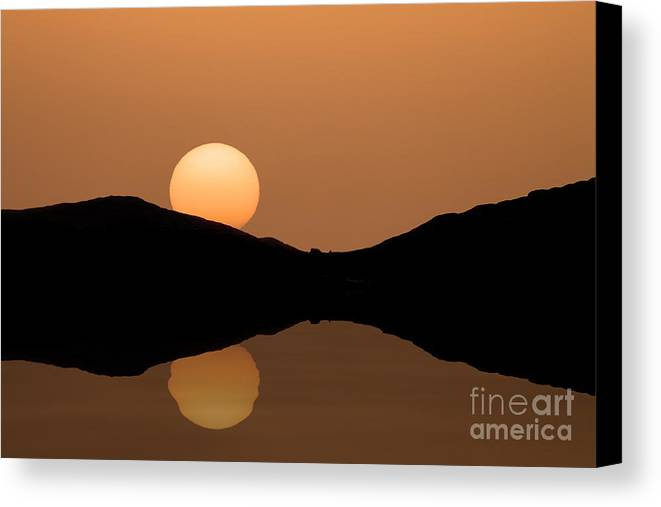 Autumn Canvas Print featuring the photograph Sunset by Bahadir Yeniceri