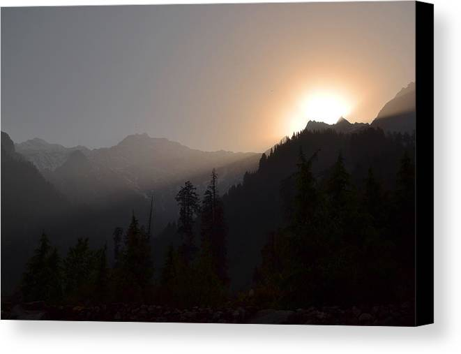 Himalaya Canvas Print featuring the photograph Sunset In Himalayas by Praveen Kanade