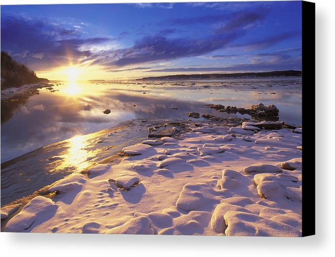 Deyoung Canvas Print featuring the photograph Sunset Over Knik Arm & Six Mile Creek by Michael DeYoung