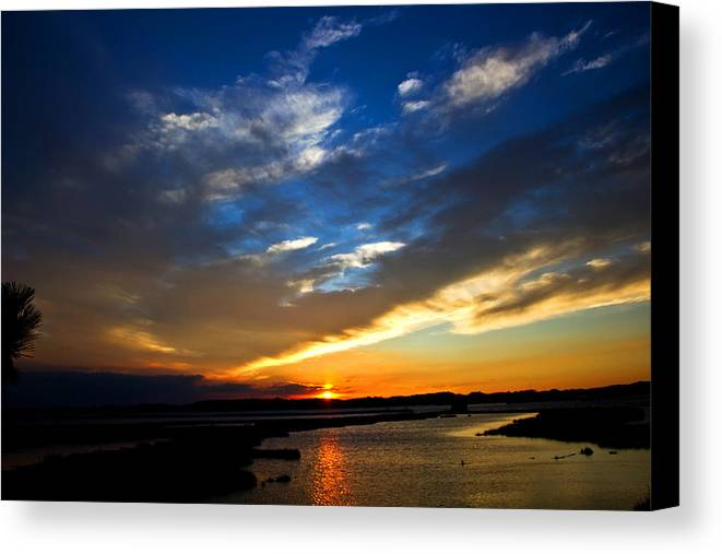 Photography Canvas Print featuring the photograph Sunset by Tim Buisman