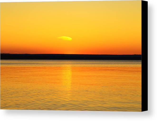 Sunset's Desire Canvas Print featuring the photograph Sunsets Desire by Rachel Cohen