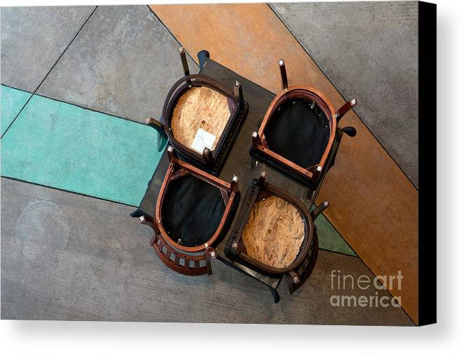 Table Canvas Print featuring the photograph Table And Chairs by Dan Holm
