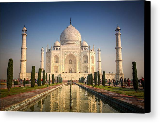 Agra Canvas Print featuring the photograph Taj Mahal 1 by Brad Grove