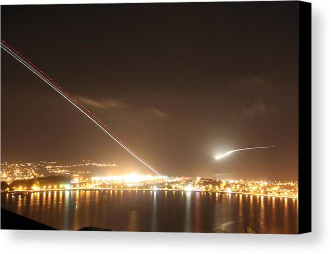 Landing Canvas Print featuring the photograph Take Off And Land by David Miller