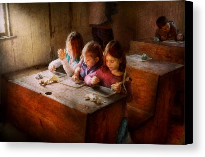 Teacher Canvas Print featuring the photograph Teacher - Classroom - Education Can Be Fun by Mike Savad