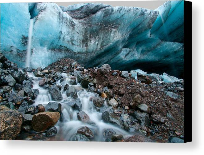 Glacier Canvas Print featuring the photograph Tears Of Gabriel by Jim Southwell