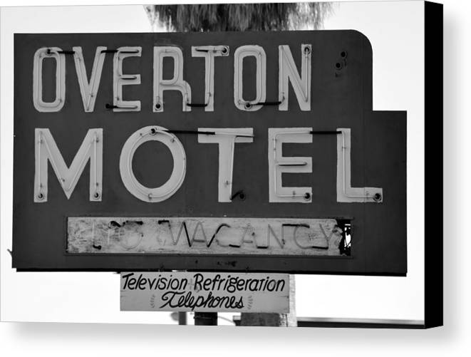 Americana Black And White Canvas Print featuring the photograph Television Refigeration And Telephones by David Lee Thompson