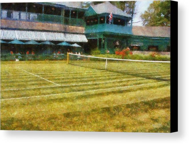 Tennis Court Canvas Print featuring the photograph Tennis Hall Of Fame - Newport Rhode Island by Michelle Calkins