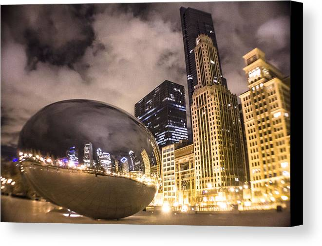 Chicago Canvas Print featuring the photograph The Bean In Chicago by John McGraw