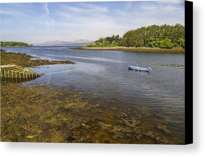Ireland Canvas Print featuring the photograph The Blue Boat by Julie Black