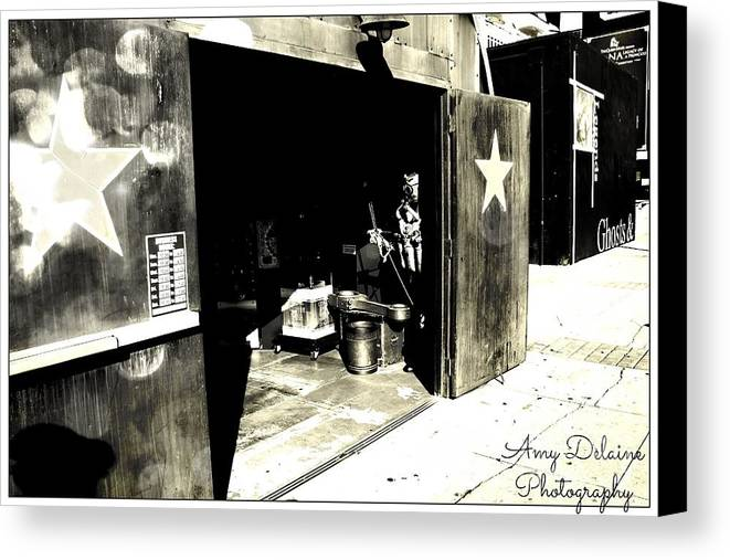 Canvas Print featuring the photograph On Sale Now The Boat Yard Gift Shop by Amy Delaine