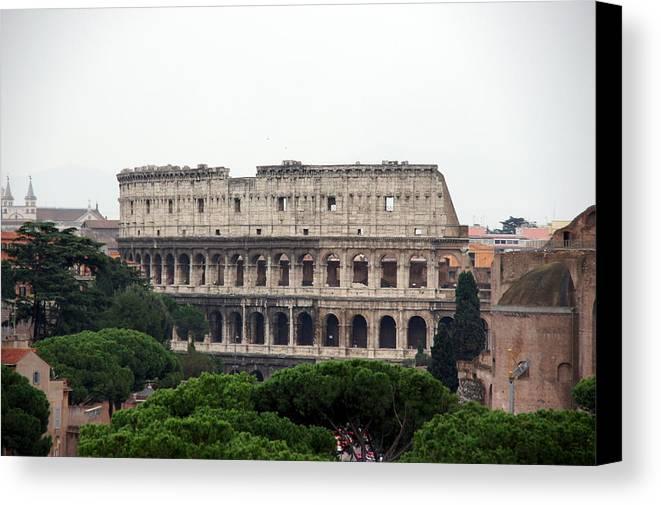 Rome Canvas Print featuring the photograph The Coliseum by Debi Demetrion