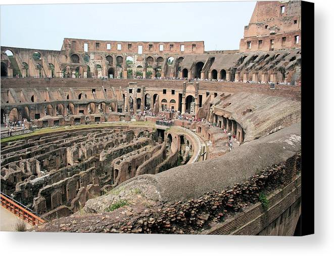 3613 Canvas Print featuring the photograph The Colosseum by Gordon Elwell