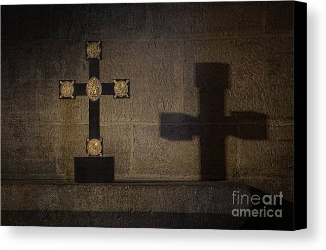 Cross Canvas Print featuring the photograph The Cross by Inge Riis McDonald
