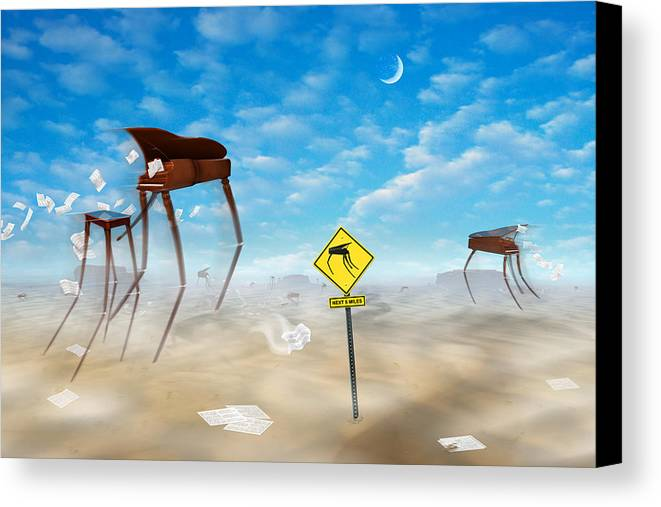 Surrealism Canvas Print featuring the photograph The Crossing by Mike McGlothlen