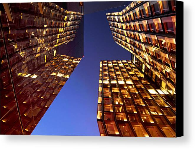 Architectur Canvas Print featuring the photograph The Dancing Towers by Marc Huebner
