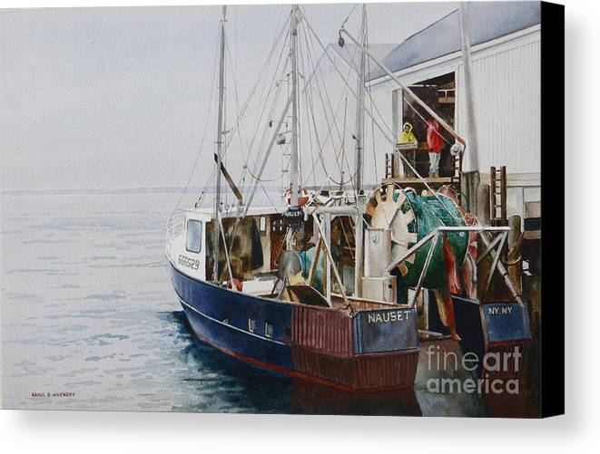 Fog Canvas Print featuring the painting The Dragger by Karol Wyckoff